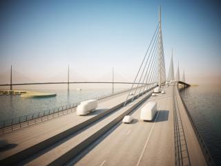 Doha, bridge daytime